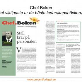 """Tidningen Chef väljer """"Problem med personalens attityd och engagemang?"""" för Chef.boken"""