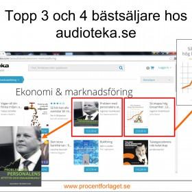 Två titlar bland bästsäljare på Audioteka i juni