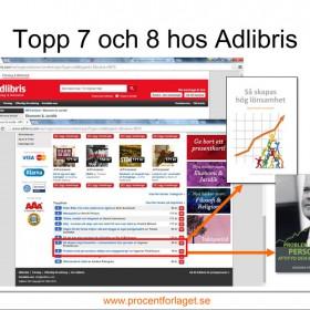 Två böcker av Ingemar Fredriksson på tio-i-topp hos Adlibris i Augusti.