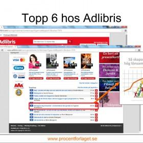 Topp 6 hos Adlibris
