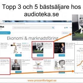 Två titlar på topp hos Audioteka