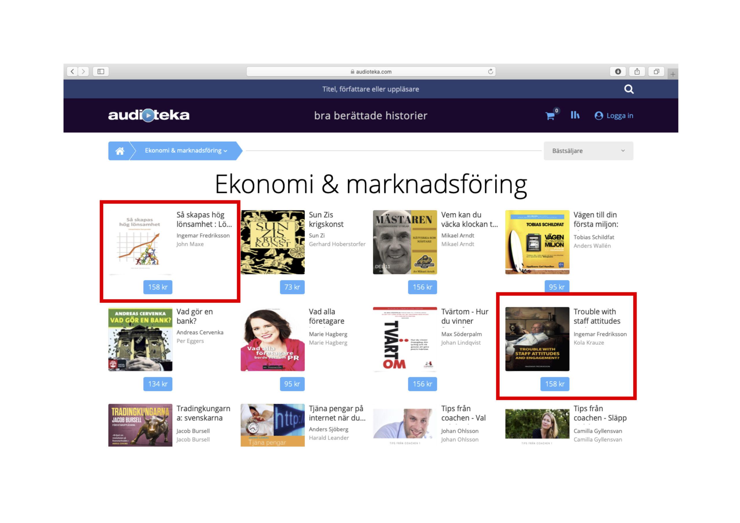 Top 1 and 8 on Auditoka.se :-)